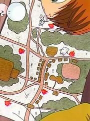 ゲゲゲの鬼太郎 第29話より、 横丁の地図