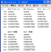 JIS2004 対応フォント 未適用