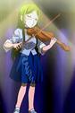 鬼太郎第3話より、バイオリニストなネコ娘 (その1)